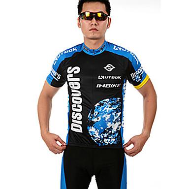 inbike 남성용 짧은 소매 싸이클 반바지 져지 - 블랙 자전거 반바지 져지 의류 세트, 빠른 드라이, 통기성, 여름, 실리콘