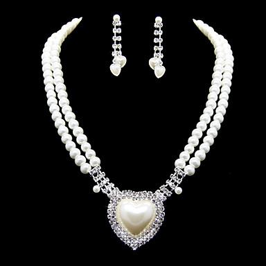 Frauen Strass Schmuck Set Ohrringe / Halskette - für Hochzeit / Party / besonderen Anlass