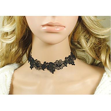 Women's Gothic Classic Black Flower Lace Necklace