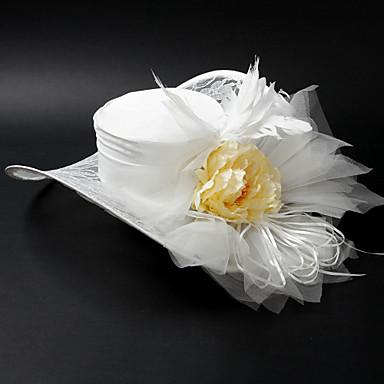 Satin Mode / Alloy Avec Fleur / Plume de mariage / Faire la fête / Lune de miel Hat