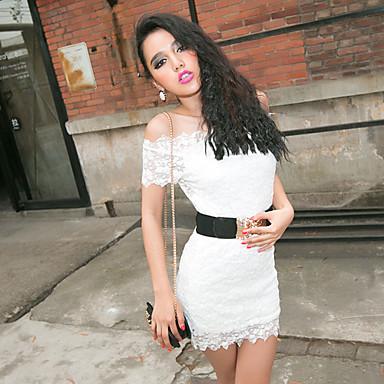 Women's Lace Bateau Dress