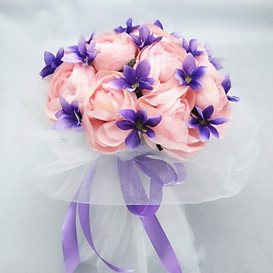 Wedding Flowers Bouquets Wedding Party / Evening Cotton Satin 8.66