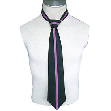 Altri accessori Ispirato da High School di Host Club Kaoru Hitachiin Anime Accessori Cosplay Cravatta Nero / Viola Tessuto uniforme Uomo