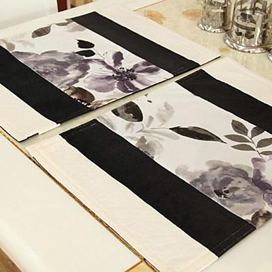 Ensemble De 4 traditionnels multicolores Napperons Floral