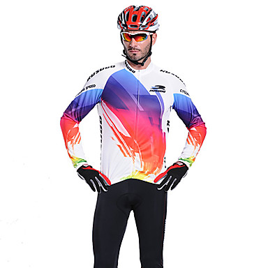 Mysenlan 男性用 長袖 バイク ジャージー