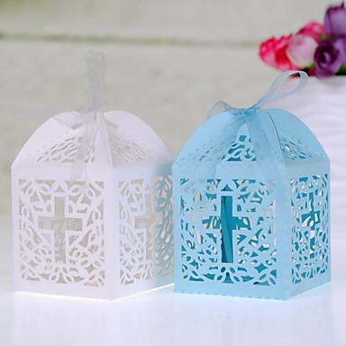 kubisch Perlenpapier Geschenke Halter mit Bänder Geschenkboxen