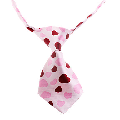 Cat Dog Tie/Bow Tie Dog Clothes Pink Nylon Costume For Pets Wedding