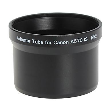 Obiectiv 52mm și filtru de tub adaptor pentru Canon A570 IS B52 negru