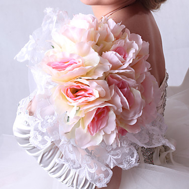 Wedding Flowers Bouquets Wedding Party / Evening Satin 11.8