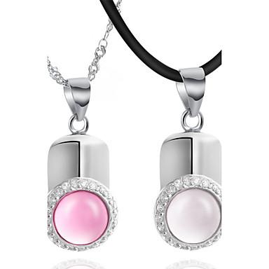 Kaunis hopea / Piilota köysi platinoidut Opal Lovers
