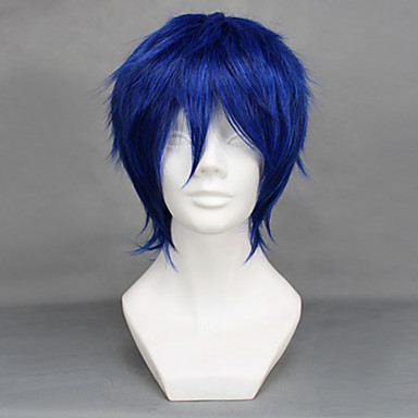 Vocaloid Kaito Miesten 12 inch Heat Resistant Fiber Anime Cosplay-Peruukit