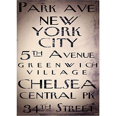 Gedrukt Art Woorden New York by Color Bakery