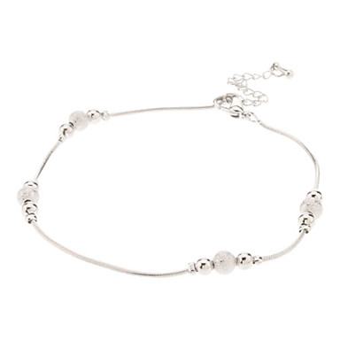 Lucky Bead Metal Anklet