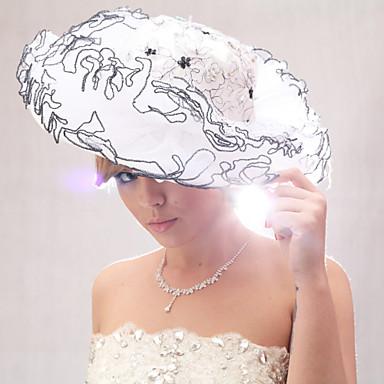 Beautiful Organza/Satin With Rhinestone Wedding Bride Hat