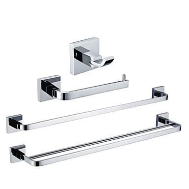 Bathroom Accessory Set High Quality Contemporary Brass 4pcs - Hotel bath tower bar Robe Hook