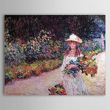 Claude Monet Tarafından Giverny De Bahçede Bir Genç Kız Boyama ünlü