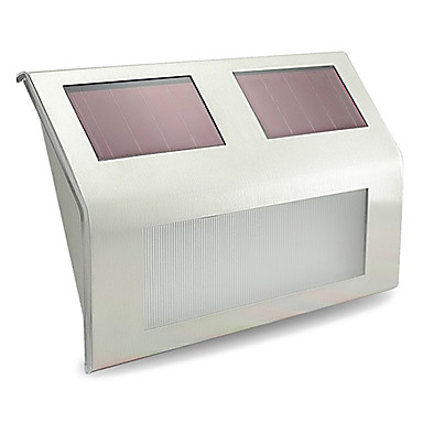 billige Utendørsbelysning-1pc Wall Light Hage Lamper LED perler Høyeffekts-LED Oppladbar Dekorativ Kjølig hvit