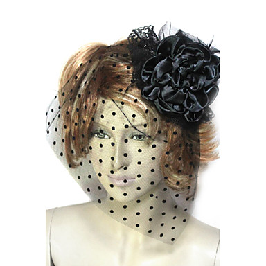 Beautiful Cotton/Flannelette/Tulle With Hat Wedding Fascinators