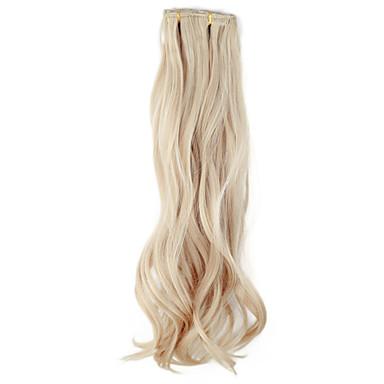 18 pouces Extension des cheveux Ondulé Classique Quotidien Haute qualité Extensions Naturelles