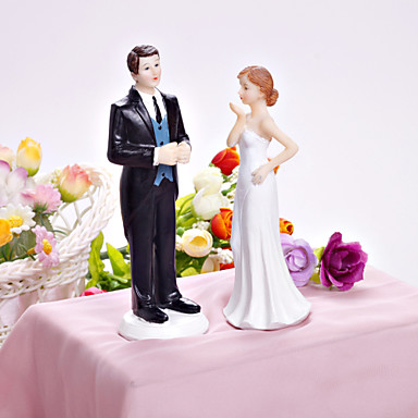 Bride Blowing A Kiss Wedding Cake Topper