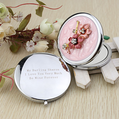 Wedding Anniversary Engagement Party Bridal Shower Bachelor's Party Birthday Party Chrome Compacts Floral Theme