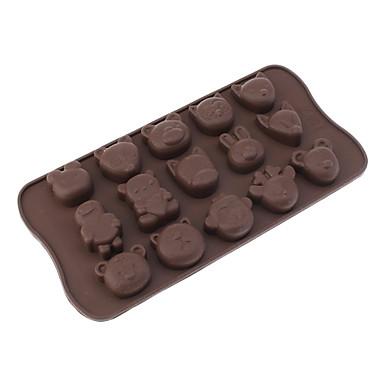 Cartoon zvířata Shaped Silikon Chocolate lisovací