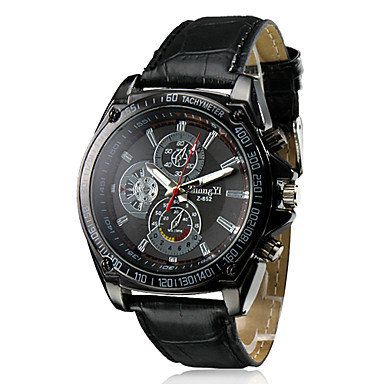 Erkek Bilek Saati Gündelik Saatler PU Bant İhtişam / Elbise Saat Siyah