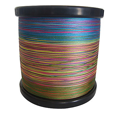 cheap Fishing Lines-1000m 1100 yards pe braided line dyneema superline fishing linegreen orange yellow purple fuchsia red blue assorted