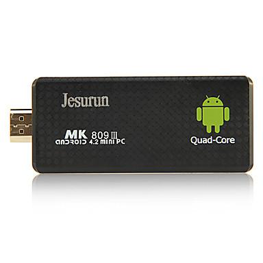 jesurun mk809iii android 4.1.1 Smart TV box 2 g ram 8g rom quad core mini pc wifi bluetooth hdmi tf