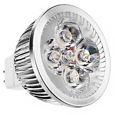 240lm GU5,3(MR16) LED-kohdevalaisimet MR16 4 LED-helmet Teho-LED Lämmin valkoinen 12V