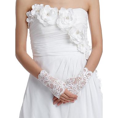Delicate Lace Fingerless Wrist Length Wedding/Evening Gloves