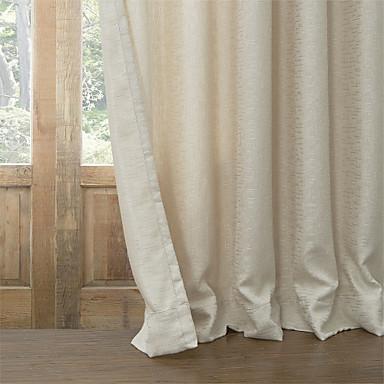 Window Léčba Moderní , Jednolitý Obývací pokoj Směs polybavlny Materiál Blackout Záclony závěsy Home dekorace For Okno
