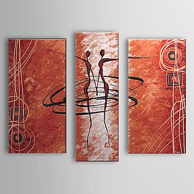 Pictat manual Oameni orice formă pânză Hang-pictate pictură în ulei Pagina de decorare Trei Panouri