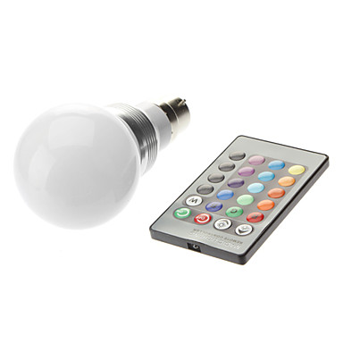 3W 1600-1700lm B22 LED Globe Bulbs LED Beads High Power LED Remote-Controlled 85-265V 220-240V