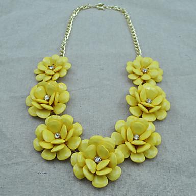Fashion Flower Bib Necklace