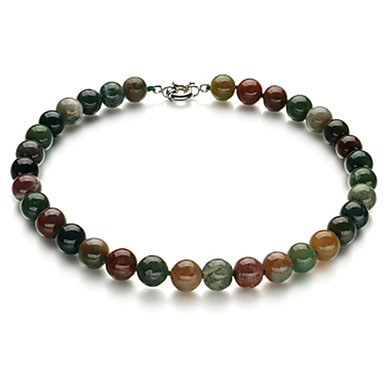 17 palcový duhový nefrit dámský náhrdelník klasický ženský styl