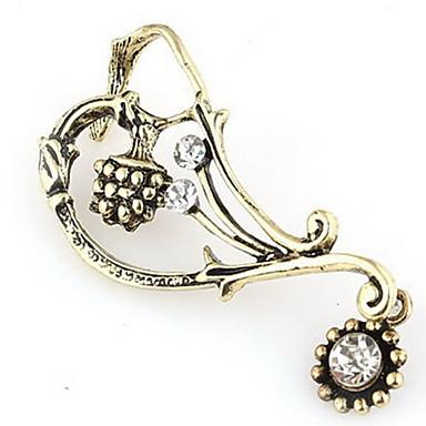 모조 다이아몬드 귀걸이 (무작위 색깔 납품)를 가진 유행 합금
