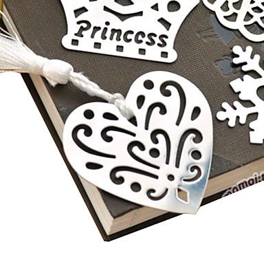 Gol-out în formă de inimă Tassel Metal Bookmark