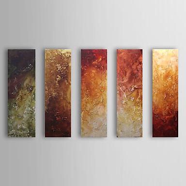 Hang-pictate pictură în ulei Pictat manual - Abstract Clasic Cinci Panouri