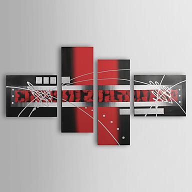 Handgemalte Abstrakt Vier Panele Leinwand Hang-Ölgemälde For Haus Dekoration