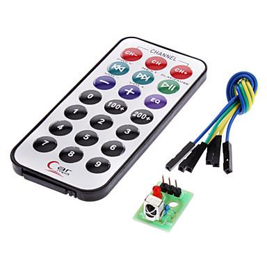 için ir alıcı modül kablosuz uzaktan kumanda kiti (arduino için) (1 x CR2025)