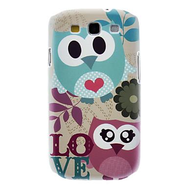 Matte Style Love Cartoon Design Owl Pattern Durable Hard Case for Samsung Galaxy S3 I9300