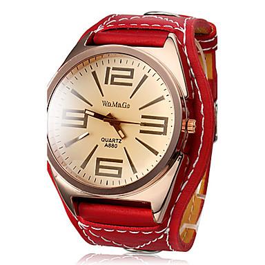 Kadın's Bilek Saati Quartz Kırmızı Büyük indirim Analog Bayan İhtişam Moda Elbise Saat