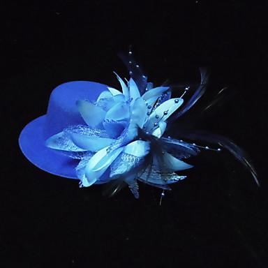 voordelige Hoeden-Zijde Kukat / Hoofddeksels met Bloemen 1pc Speciale gelegenheden Helm