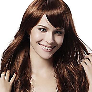 Synthetische Perücken Damen Wellen / Klassisch Synthetische Haare 20 Zoll Perücke Kappenlos