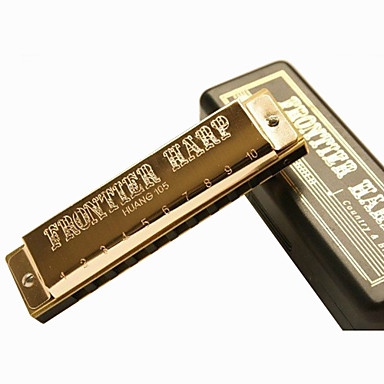 huang - (105) Blues harpa dourada gaita 10 holes/20 tons