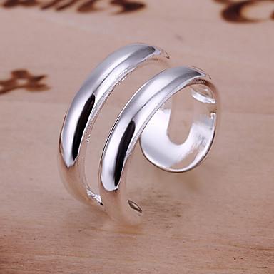 Dámské Band Ring Postříbřené Slitina Open Nastavitelná Párty Kostýmní šperky
