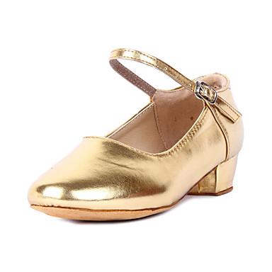 Children's Modern Leatherette Heel Chunky Heel Gold Silver Gold Fuchsia 1