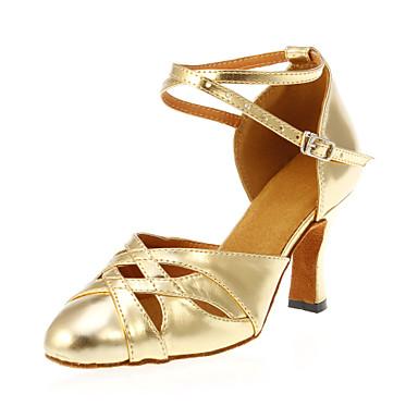 Pentru femei Pantofi Moderni Imitație de Piele Călcâi Toc Personalizat Personalizabili Pantofi de dans Auriu