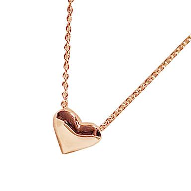 Pentru femei Coliere cu Pandativ  -  Inimă, Iubire Modă Auriu Coliere Pentru Petrecere